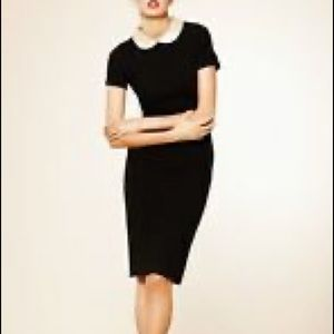 Marc by Marc Jacobs black knit dress w gold collar